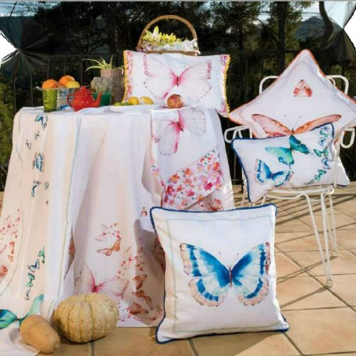 Material draperie cu imprimeu fluturi pentru camere de copii DRCO006
