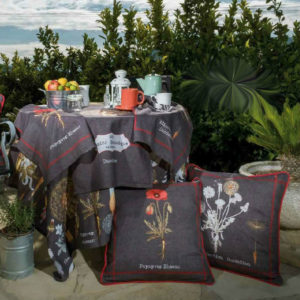 Material textil pentru terase cu motive florale DRTR005